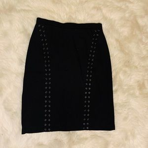 BCBG Suede Pencil Skirt